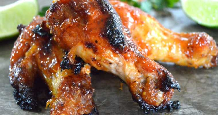 Apricot Glazed Sweet & Spicy Wings