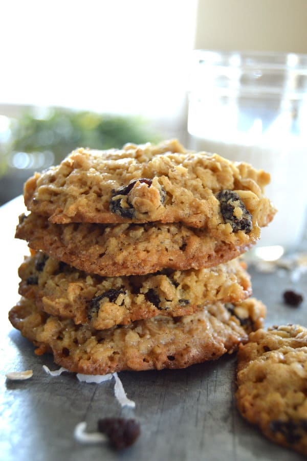 Rum Raisin Oatmeal Cookies