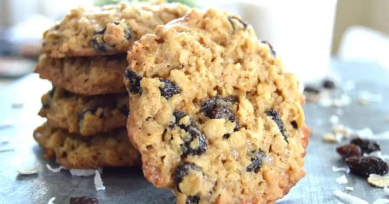 Rum Raisin Oatmeal Cookies
