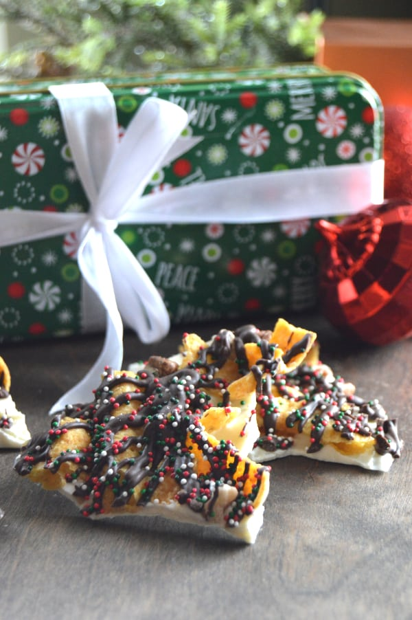 Holiday Frito Bark