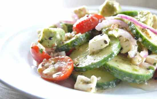 Tangy Cucumber Salad with Feta & Dill