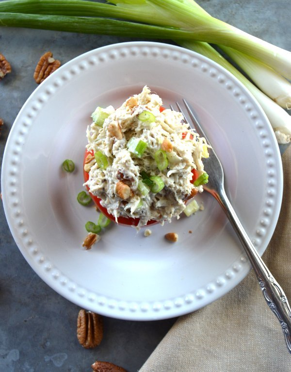 Pecan Chicken Salad Keto Gluten Free Low Carb