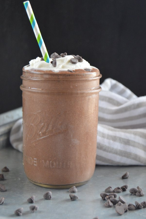 keto low carb frozen hot chocolate