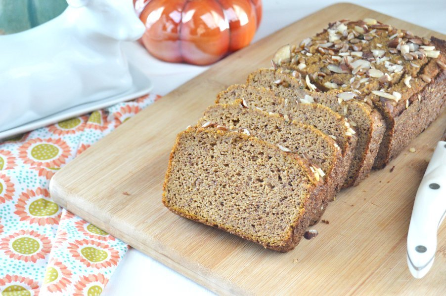 Low Carb, Keto Friendly, Gluten Free, Chai Spiced Pumpkin Bread