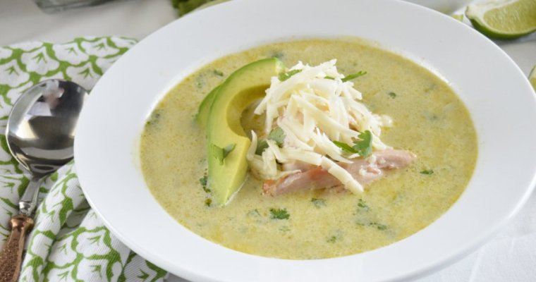 Chicken Verde Enchilada Soup