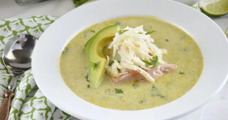 Chicken Verde Enchilada Soup
