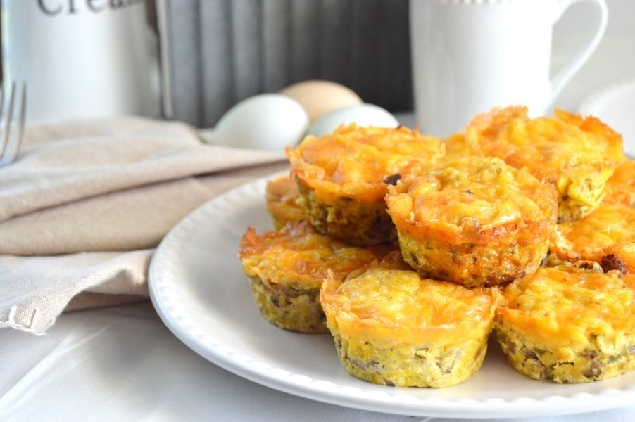 Sausage & Green Chile Egg Muffins Gluten Free, Low Carb & Keto