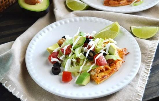 Tex-Mex Chicken Taco Pizza – LC, GF, Keto
