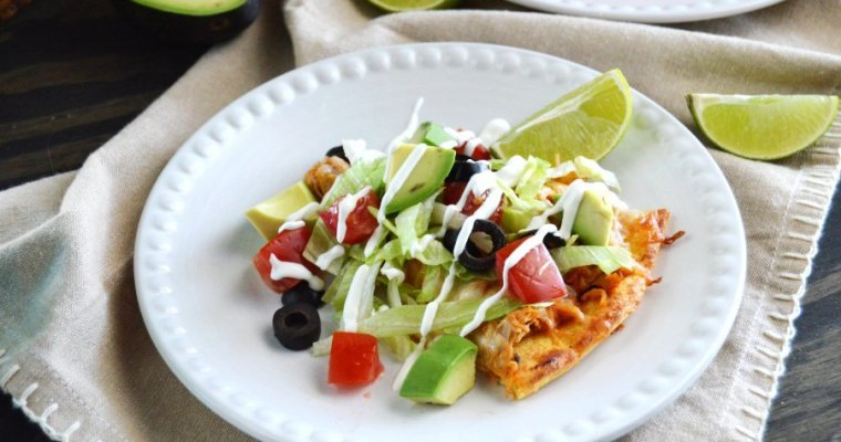 Tex-Mex Chicken Taco Pizza – LC, GF, Keto
