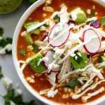 Bowl of Mexican Tomato Soup - Gluten Free & low Carb