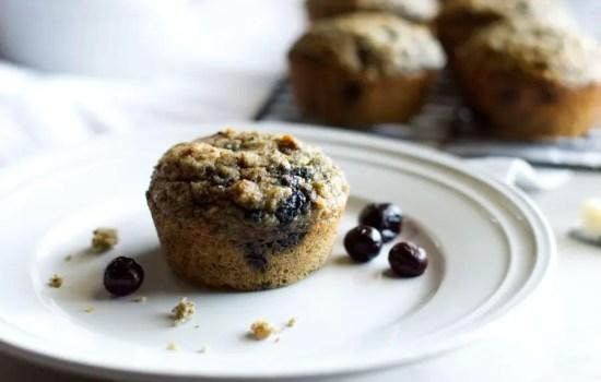 Keto Banana Blueberry Muffins