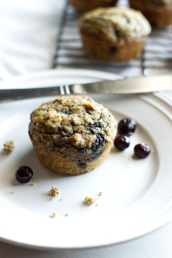 Low Carb & Keto Banana Blueberry Muffins