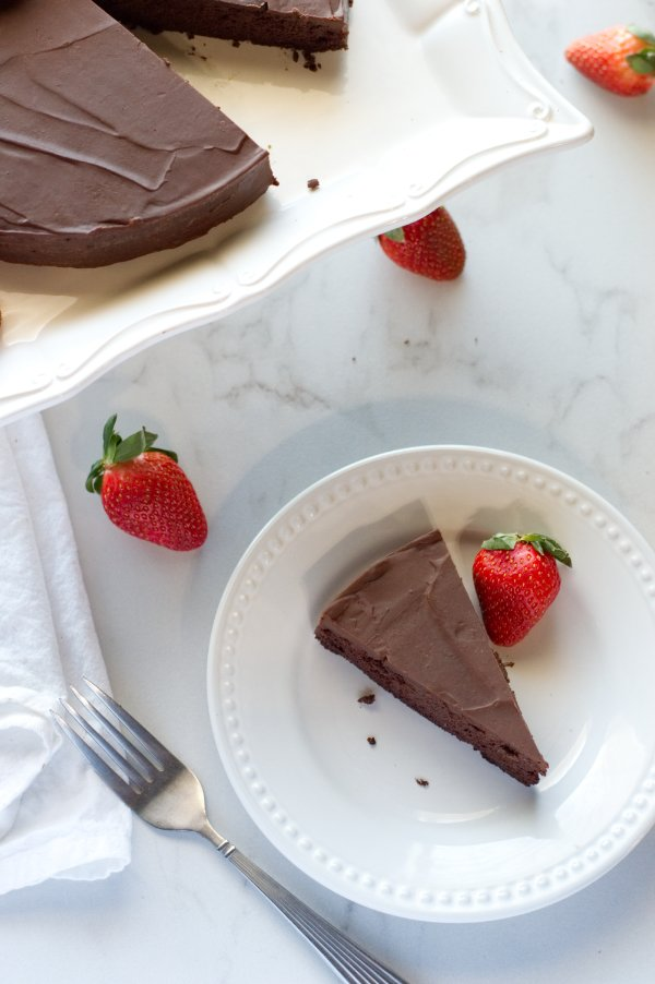 Slice of Keto Chocolate Cake - Low Carb Dessert