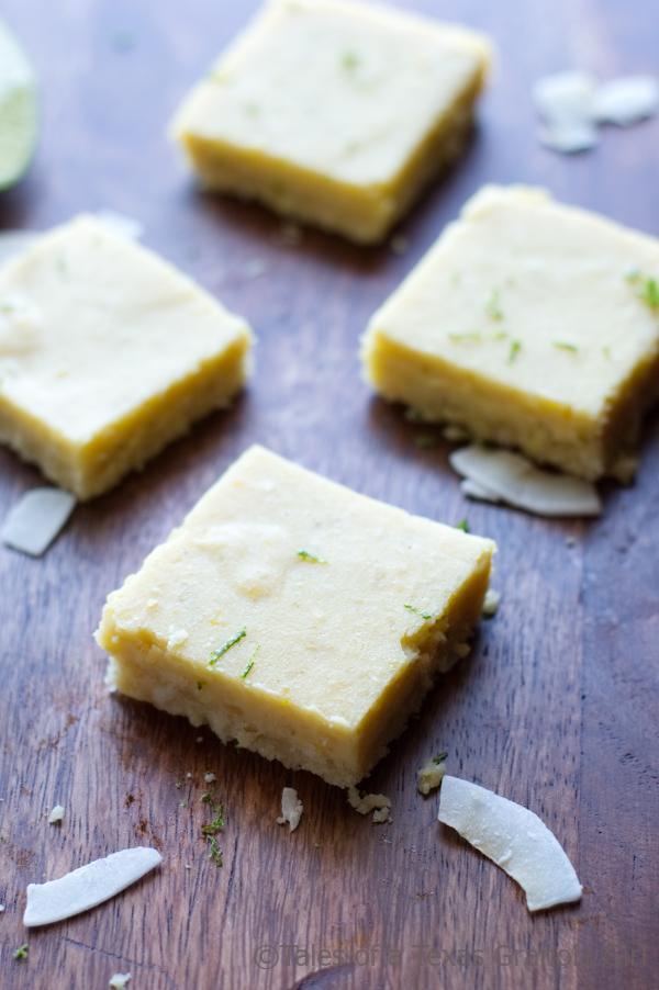 Keto and Low Carb Key Lime Bars