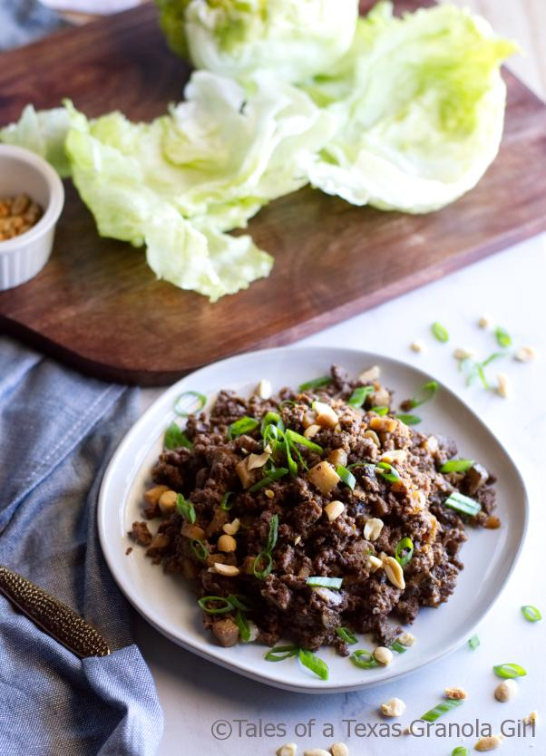 Filling for Ground Venison Lettuce Wraps - Low Carb, Keto, Dairy Free