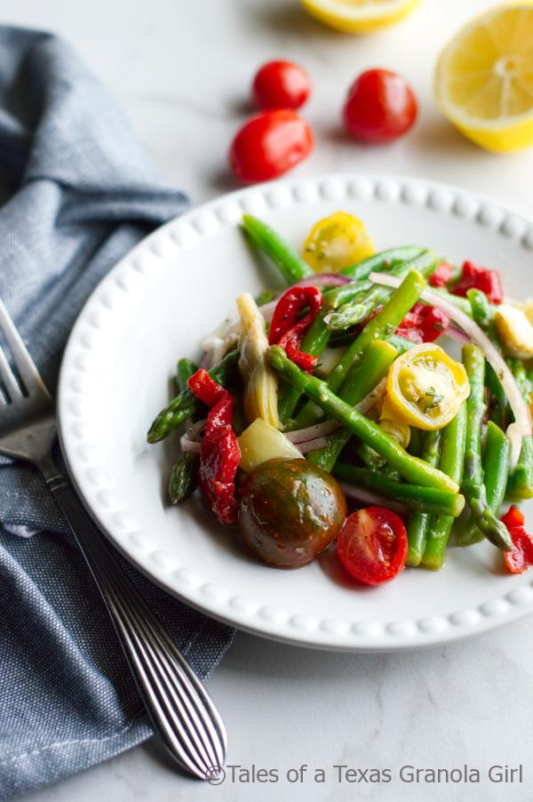 Colorful Marinated Asparagus Salad - low carb, keto friendly, dairy free and vegan
