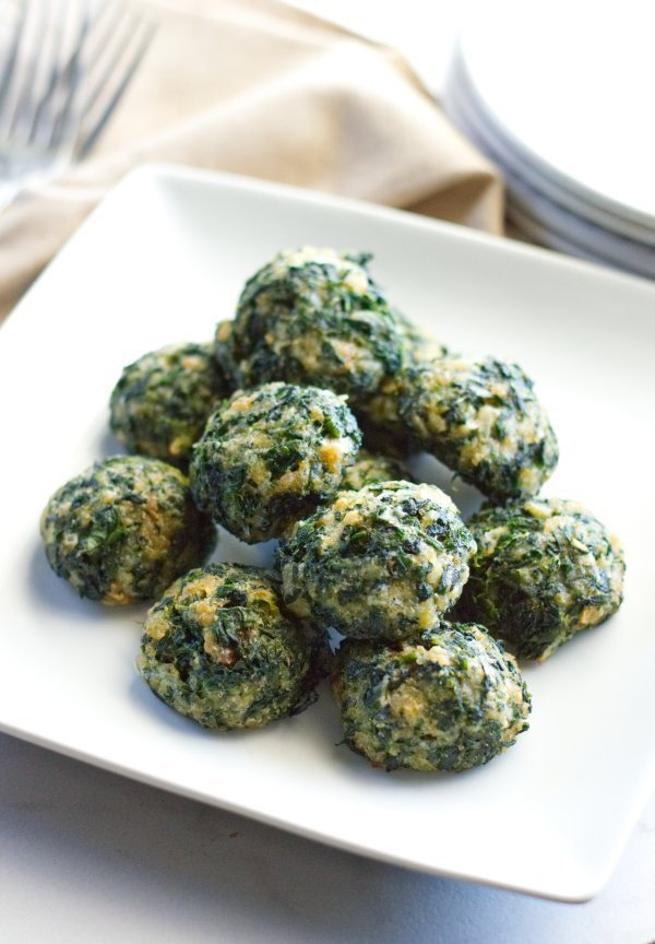 Plate of Spinach balls