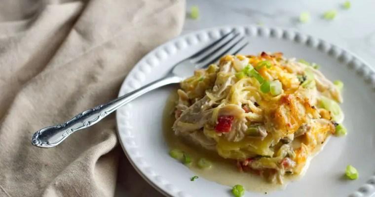 Chicken Spaghetti Squash Casserole