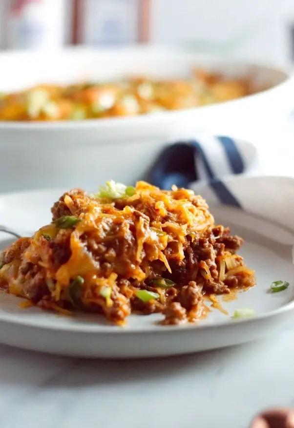Keto Mexican Casserole with Spaghetti Squash
