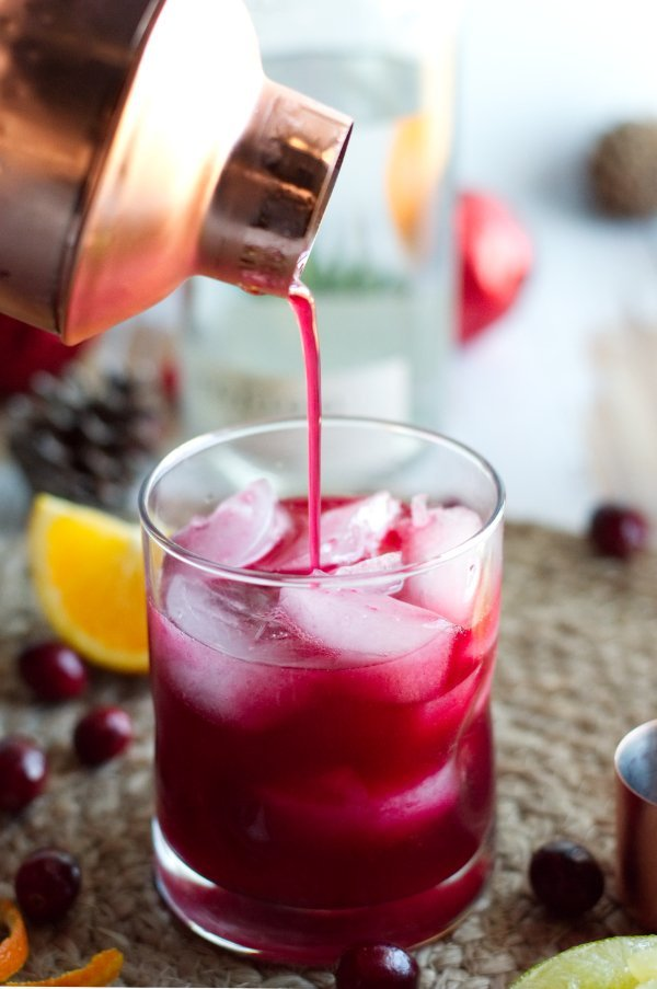 Keto Cranberry Hibiscus Margarita