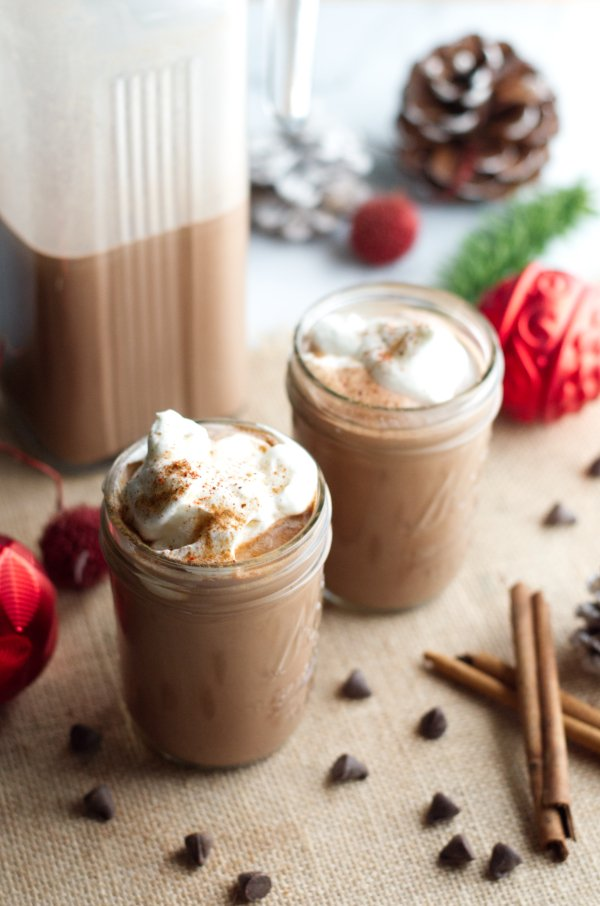 Two glasses of keto holiday drinks