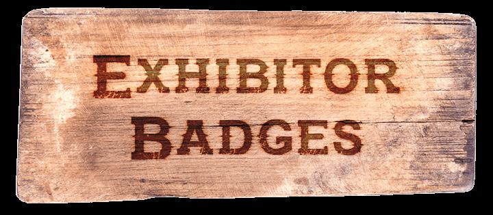 Exhibitor Badges