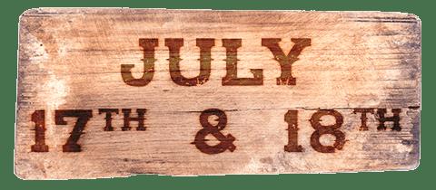 July 17th & 18th