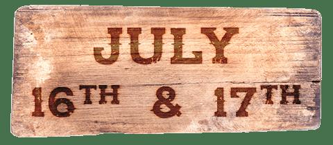July 16th & 17th