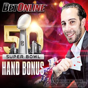 BetOnline Running Super Bowl Themed Poker Promo