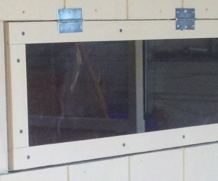 sliding plexiglass window
