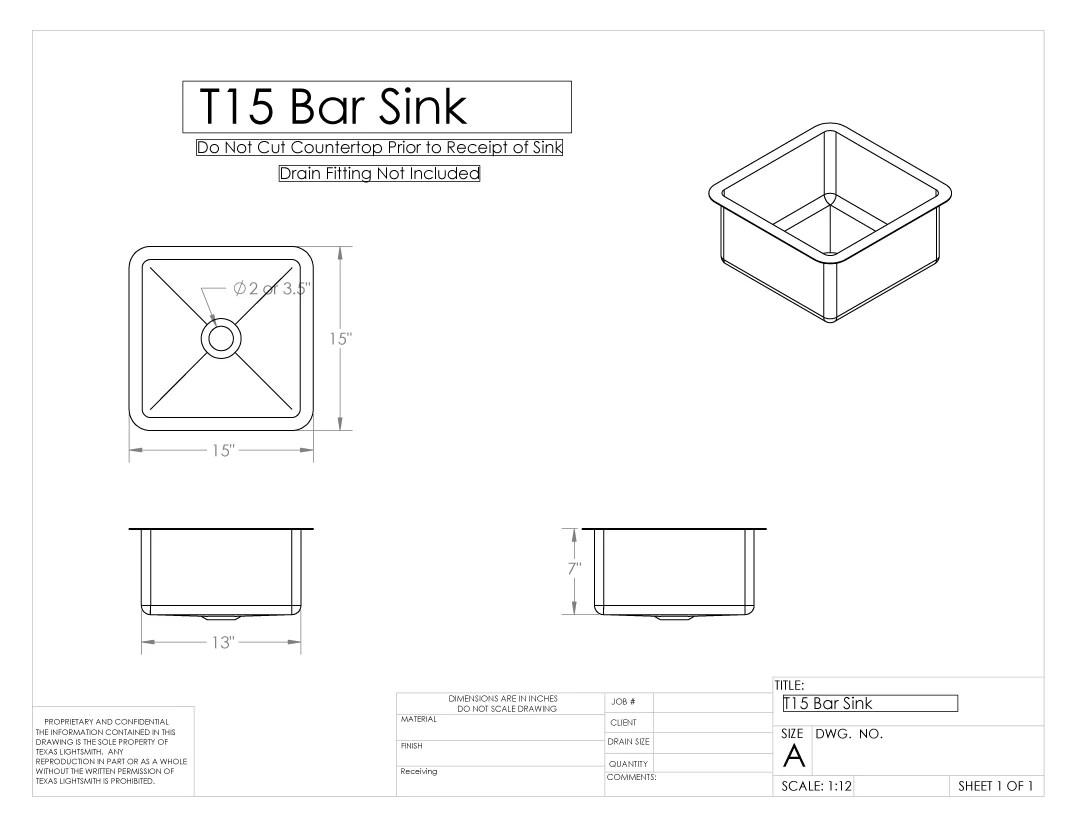 Brass Bar Sink