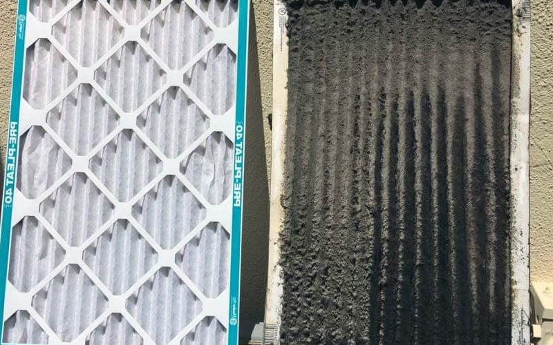 Dirty and Clean Residential Air Filters
