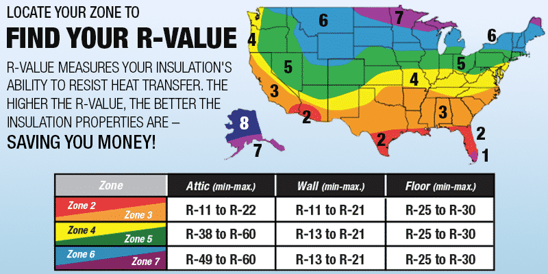 R-Value Across the United States