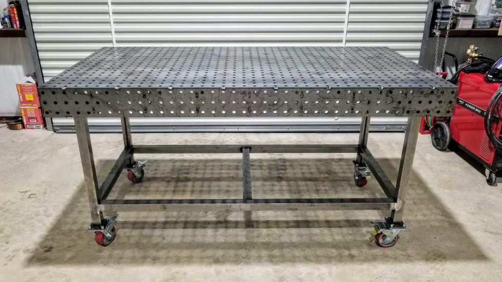 """Welding Table - 40"""" x 80"""" Fully Fabricated Weld Tables"""