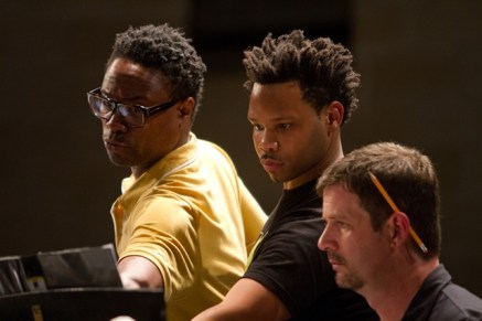 (l to r) Giant Steps Director Billy Porter, Composer and Music Director Michael Dexter, Pianist Jason Connor