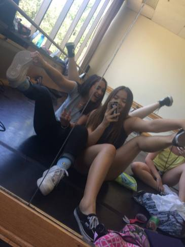 Dance studio fun