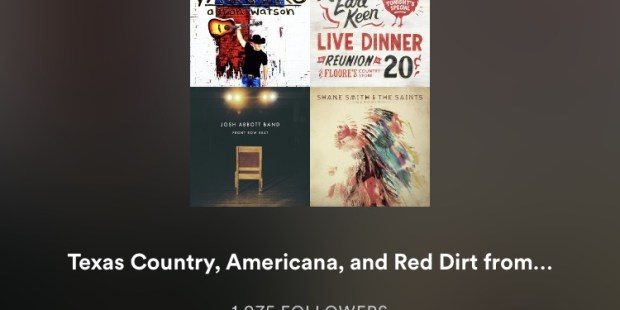 Spotify Playlist Recent Adds   Texas Music Pickers