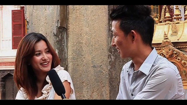 Ek Chin with Namrata Shrestha