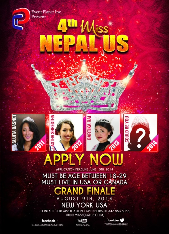 Miss Nepal US 2014- Call for Application Fly
