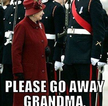 Please go away grandma!