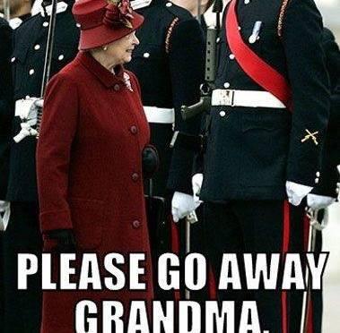 Please go away grandma!
