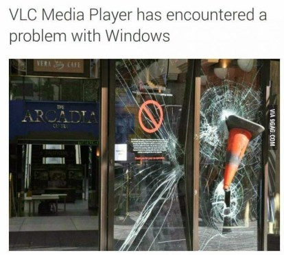 VLC encountered problem with Windows