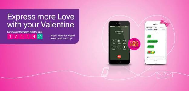Hear, Hear Ncell Subscribers, It's Valentine Offer!