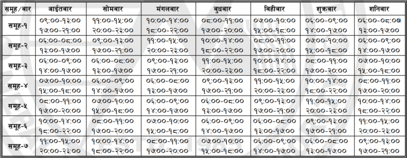 Loadshedding_New_Schedule_Baisakh_12_2072