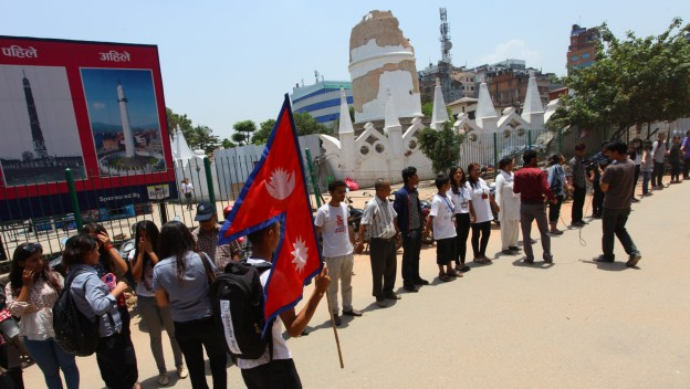 Memorial Procession: One Month Of The Destructive Earthquake