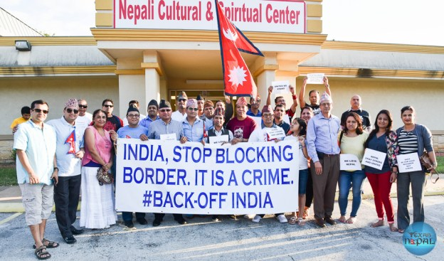 Nepalese Society of Texas Organized Peaceful Demonstration Against India's Blockade To Nepal