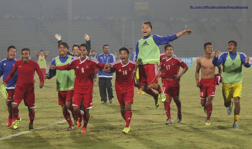 Nepal wins 12th South Asian Games football against India 2-1