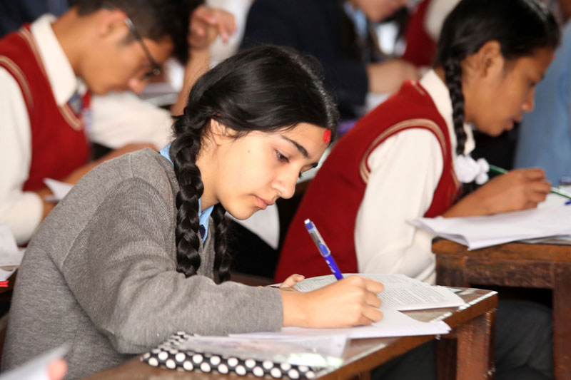 Of the total examinees, 452,881(227,535 girls and 225,346 boys) were from the regular category, while 159,417 examinees (97,036 girls and 62,381 boys) were from the exempted category. Similarly, a total of 3,255 examinees (1,273 girls and 1,982 boys) were appearing in the SLC examinations under the technical and vocation stream.