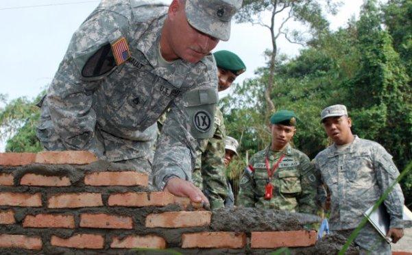 American Soldiers In Dolakha, Rebuilding School