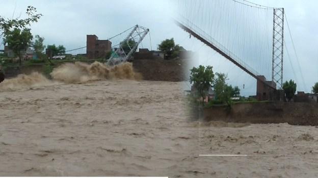 बाढीले तिनाउ नदीको पुल बगायो (LIVE VIDEO)